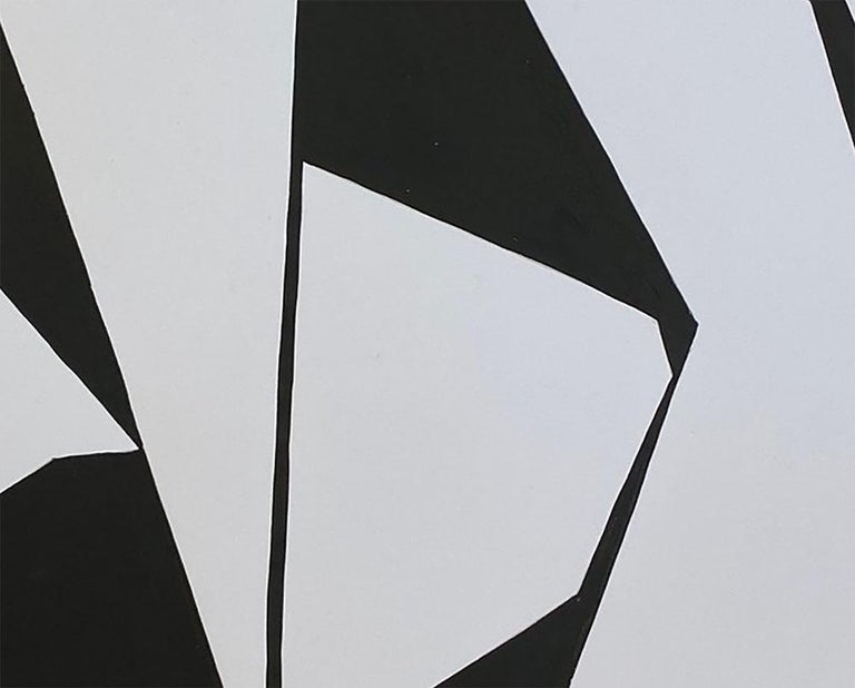 Cut-Up Paper 2007 (Abstract painting) - Gray Abstract Painting by Ulla Pedersen