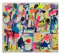 The One With Teapot (Abstract painting)