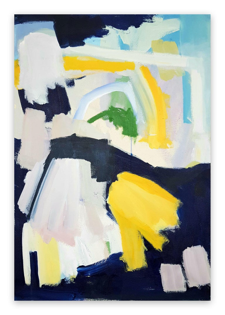 Diana Krinninger Abstract Painting - Sunny night (Abstract painting)