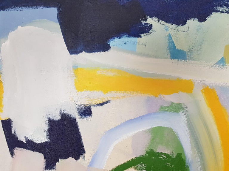 Sunny night (Abstract painting) For Sale 1