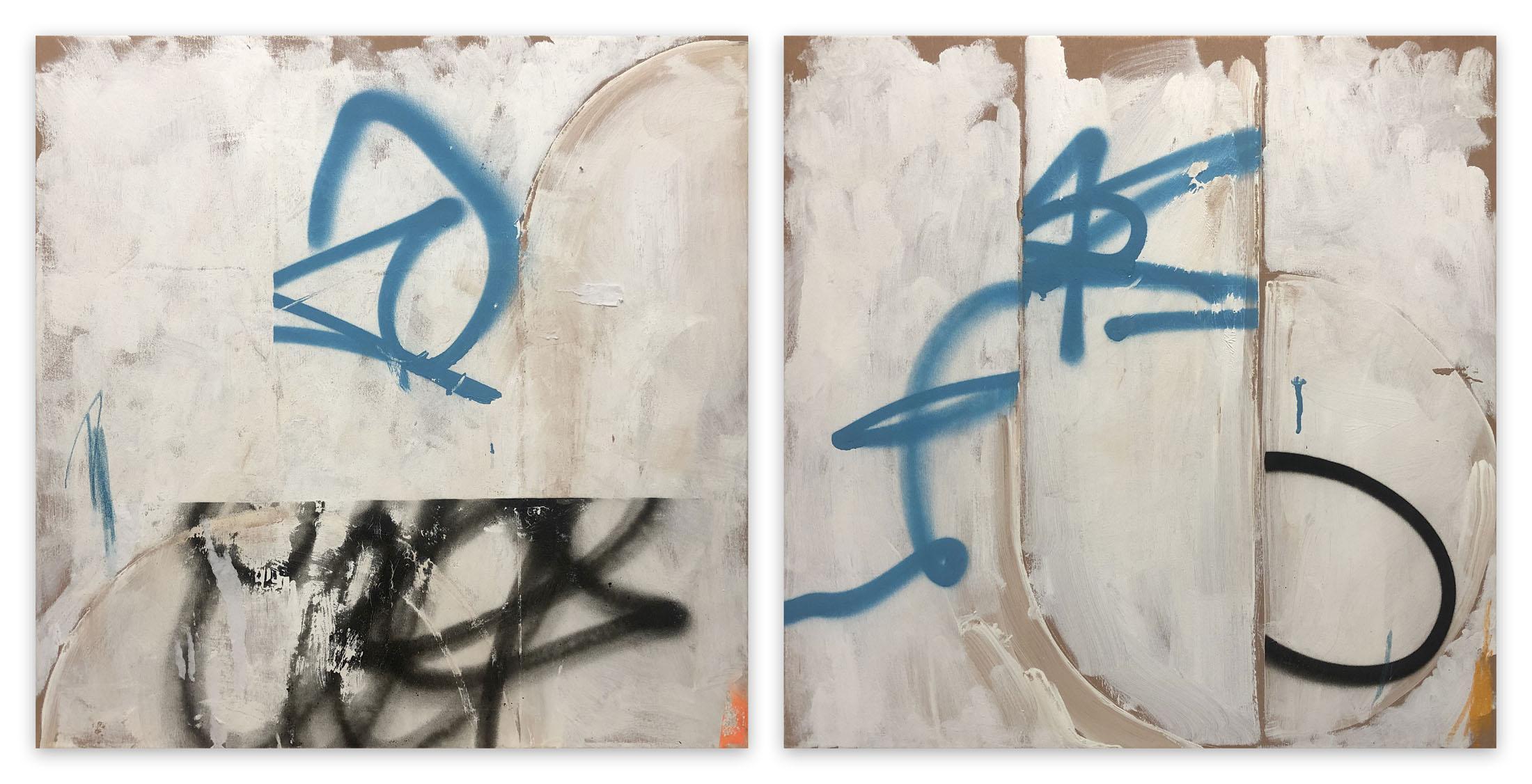 English broken 1&2 (Abstract painting)