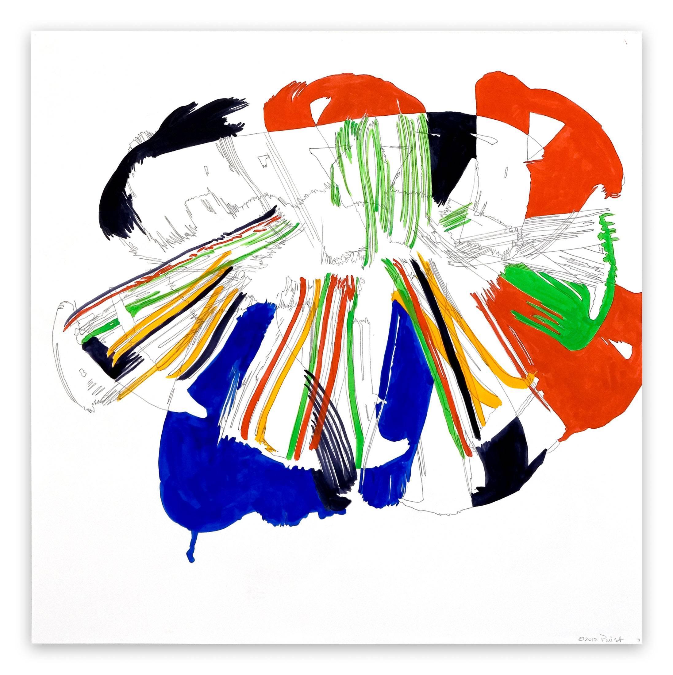 Jazz Cubano #41: Percussion Drawing (Abstract painting)
