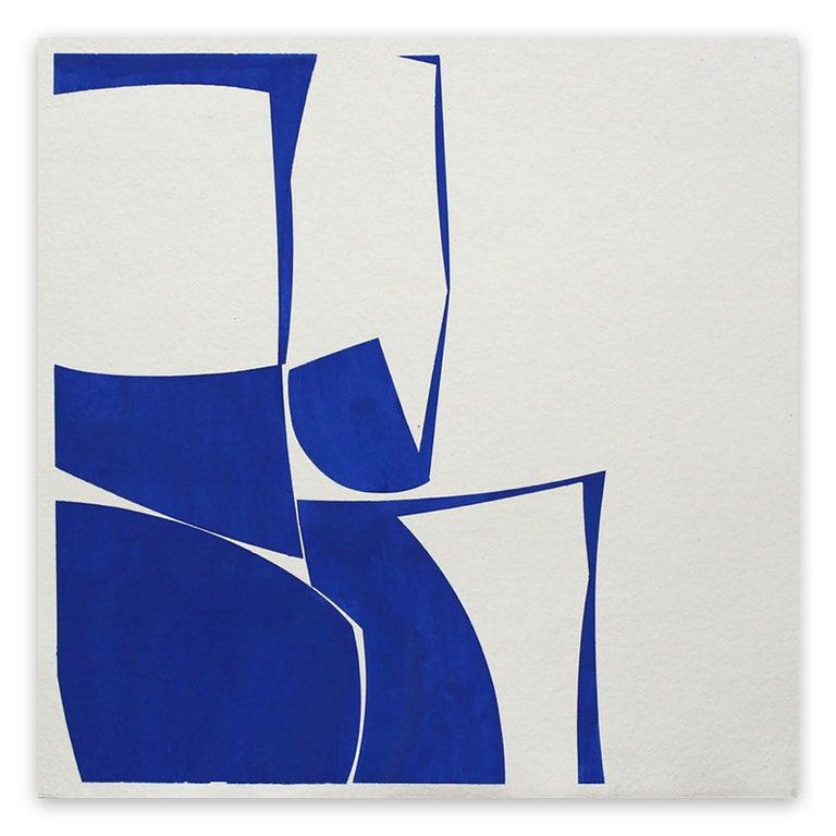 Joanne Freeman Abstract Drawing - Covers 24 Blue G Summer (Abstract Painting)