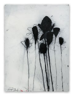 Multiple Stems in Black (Abstract painting)