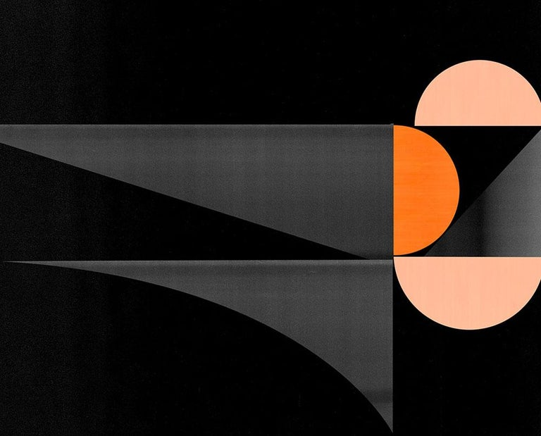 M288 (Abstract new media) - Black Abstract Print by Jesús Perea