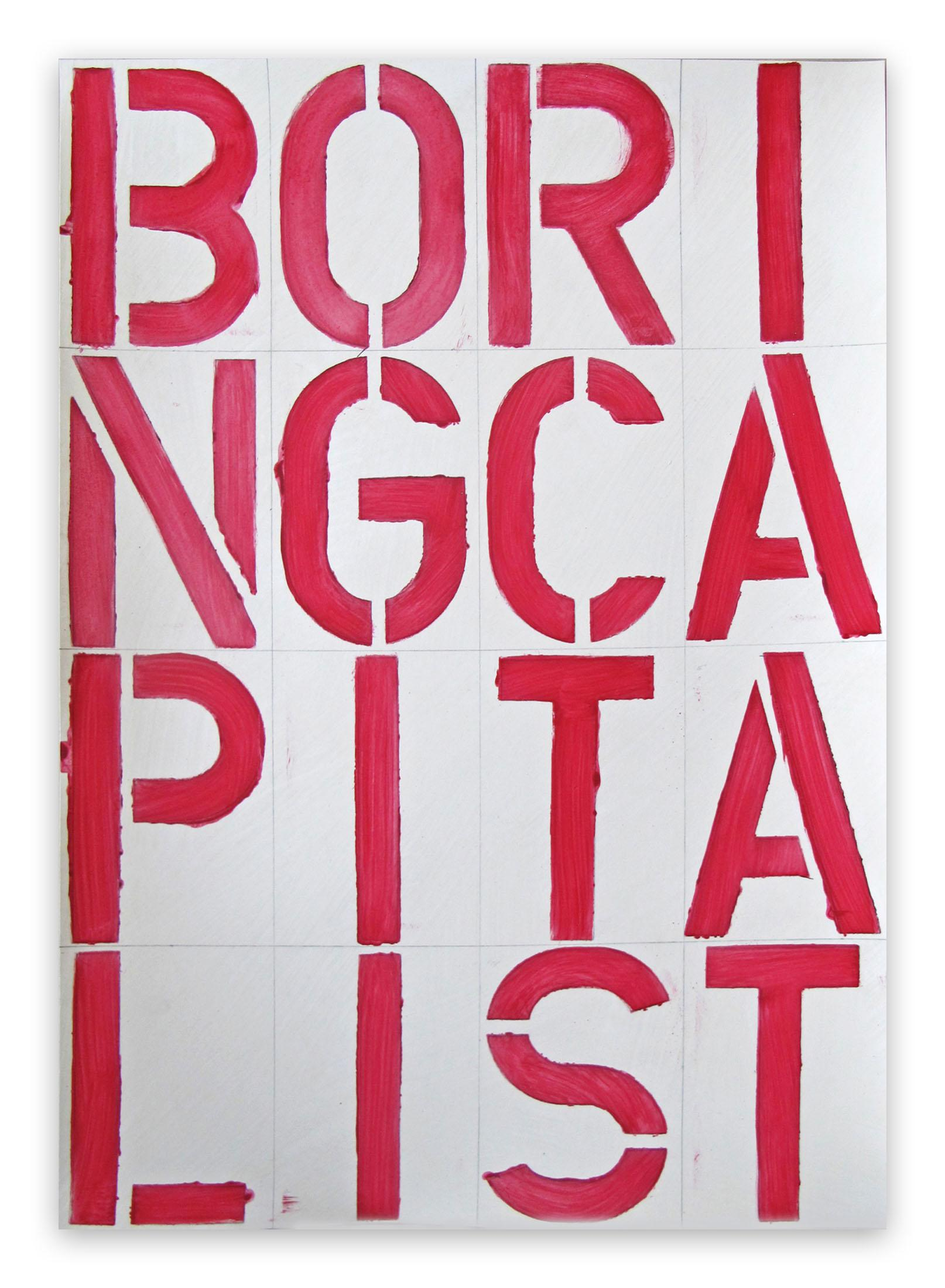 BP18, BORINGCAPITALIST, 2019 (Abstract painting)
