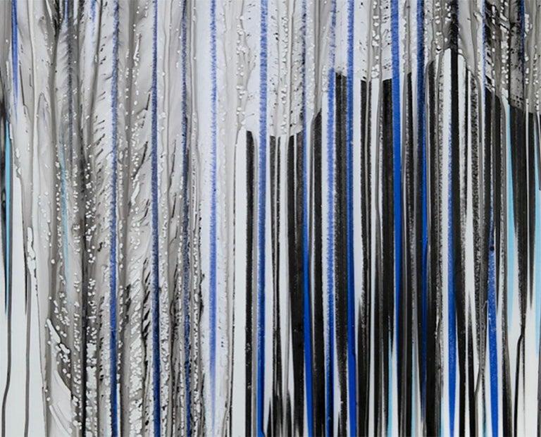 Big Melt #16 (Abstract drawing) - Gray Abstract Drawing by Jaanika Peerna