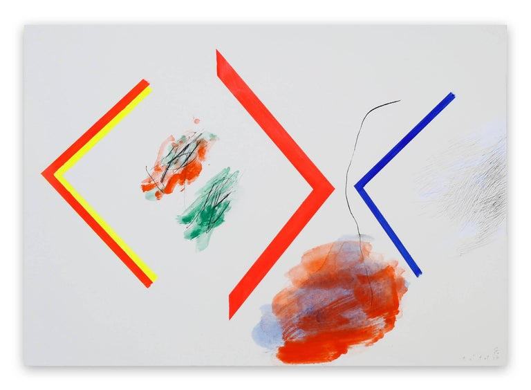 Claude Tétot Abstract Drawing - Untitled 1 (Abstract painting)