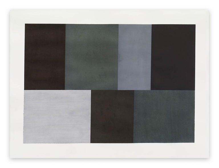 Tom McGlynn Abstract Drawing - Test Pattern 5 (Grey study)