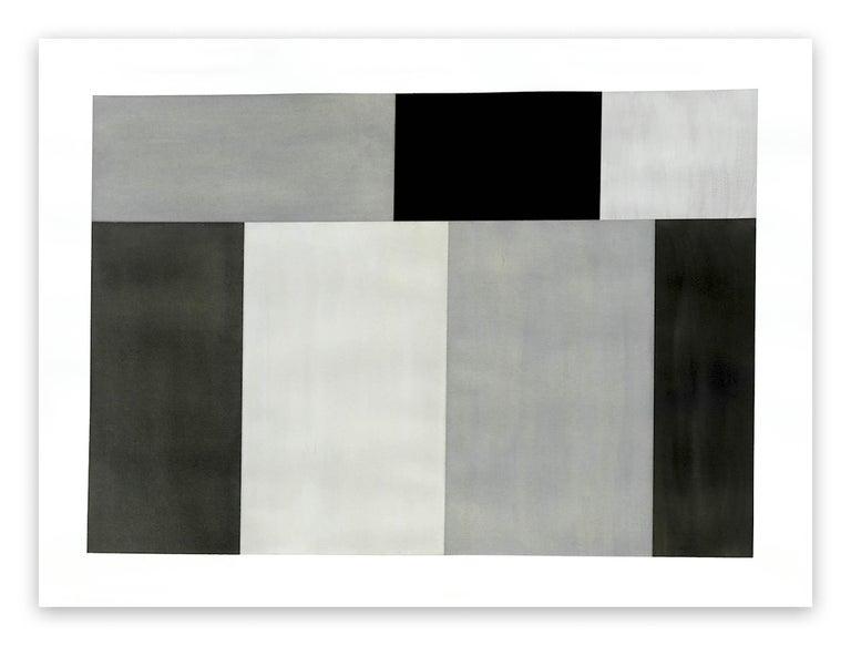 Tom McGlynn Abstract Drawing - Test Pattern 6 (Grey study)