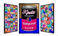 """Soup for a day"" - kinetic, pop art, Andy Warhol, pop culture, art optic, opart"
