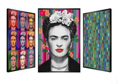 """Fleur du Mexique"" -- kinetic, pop art, Frida Kahlo, pop culture, art optic,"