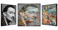 """Dali Olala"" - kinetic, kinetic pop art, celebrity, pop culture, art optic, Dali"