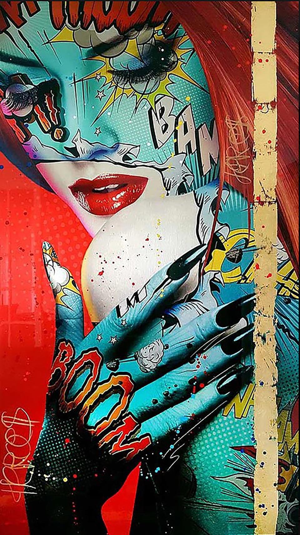 """Kimera"" -- Pop art, pop culture, feminism, woman power, woman empowerment"