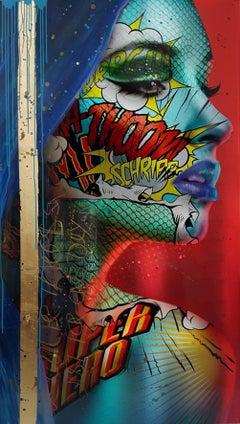 """Astradyne"" -- Pop art, pop culture, feminism, woman power, woman empowerment"