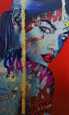 """""""Stardust"""" -- Pop art, pop culture, feminism, woman power, woman empowerment"""