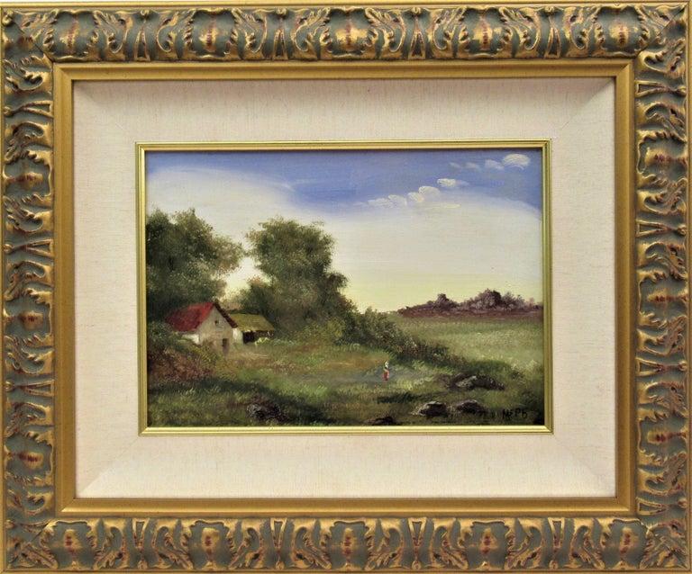Martin Erich Philipp Landscape Painting - Landscape with Farm