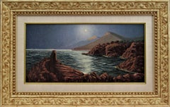 Seascape at night in Provence