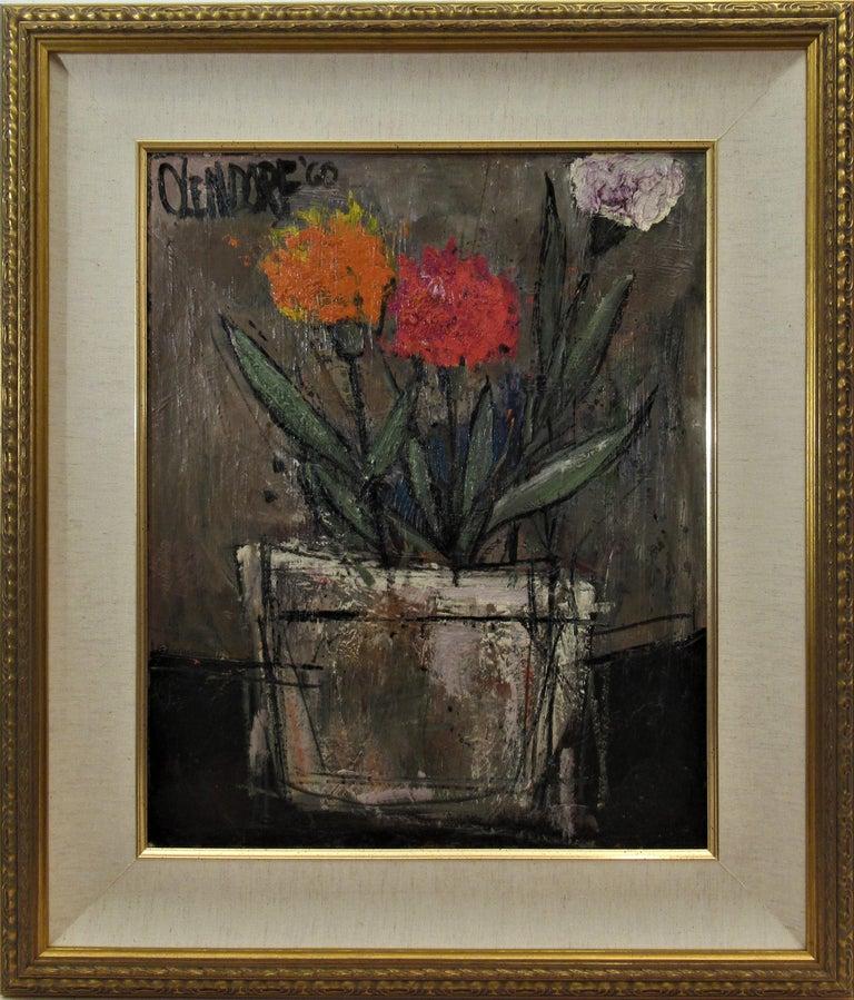 William (Bill) Olendorf Figurative Painting - Still Life Flowers