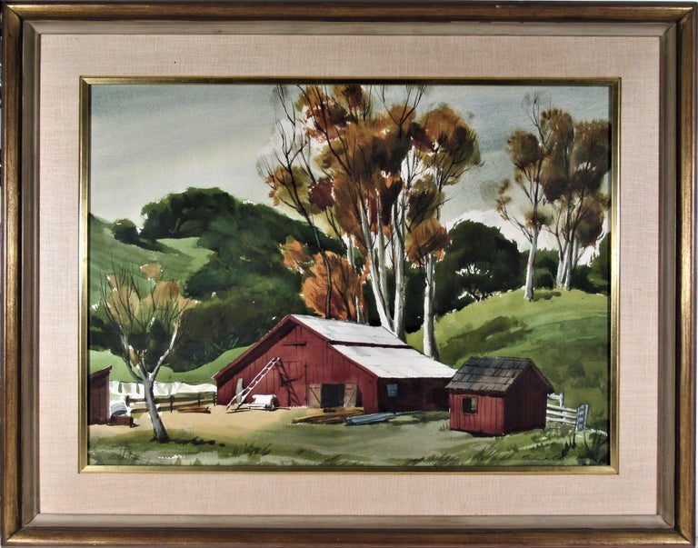 Frederick Cole Landscape Art - The Old Red Barn
