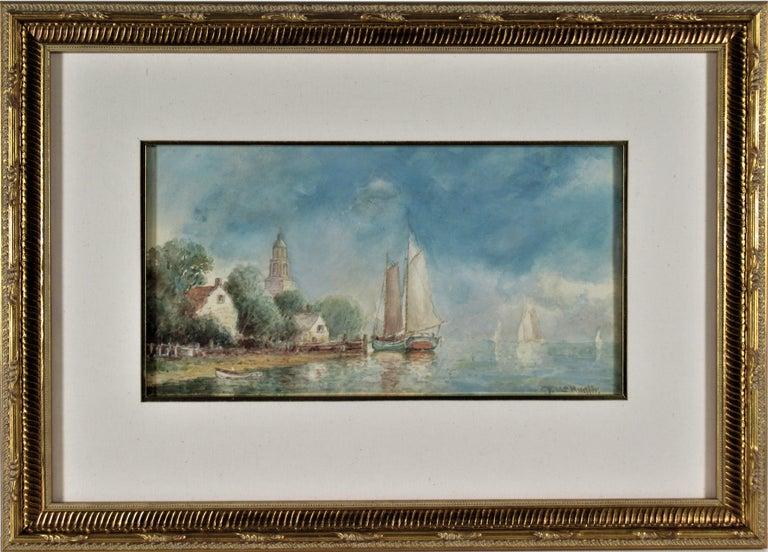 Frederick Leo Hunter Landscape Art - Harbor Village