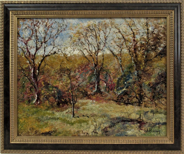 Ferdinand A. Busing Landscape Painting - Landscape with Trees