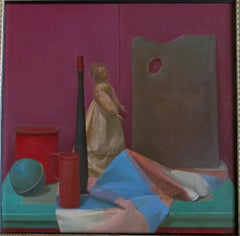 Langdon Quin Still Life With Figure