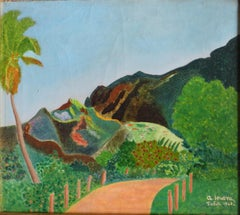 Semi Abstract Landscape Painting of Tahiti, 1942