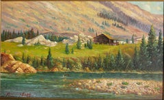 Vintage Western Mountain Scene by noted Montana Artist
