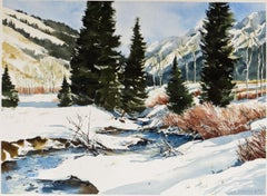 Winter Scene, Idaho - Watercolor