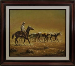 Horseman and cattle