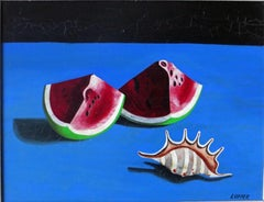 Red Melon Slice - Surrealist Painting