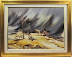 Surrealist Landscape with Harp