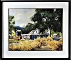 California Landscape with Farm