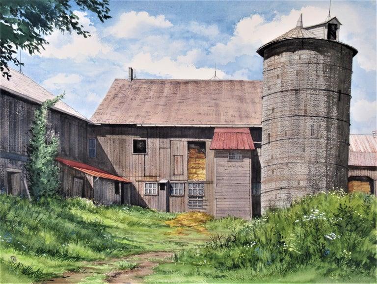 W. Ralph Murray Figurative Art - Earl Scwaiger's Barn