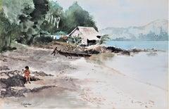 Coastal Landscape with Child