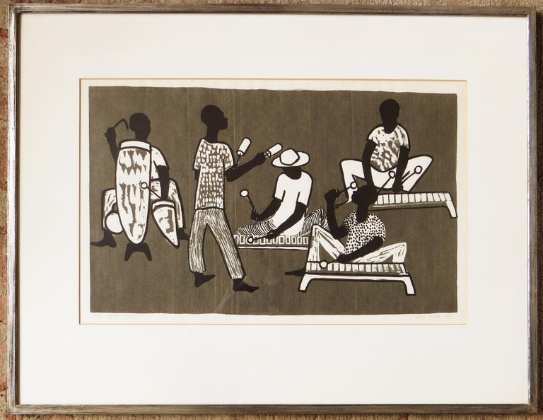Jessie Wilber Abstract Print - Tanu Yajenga Nchi