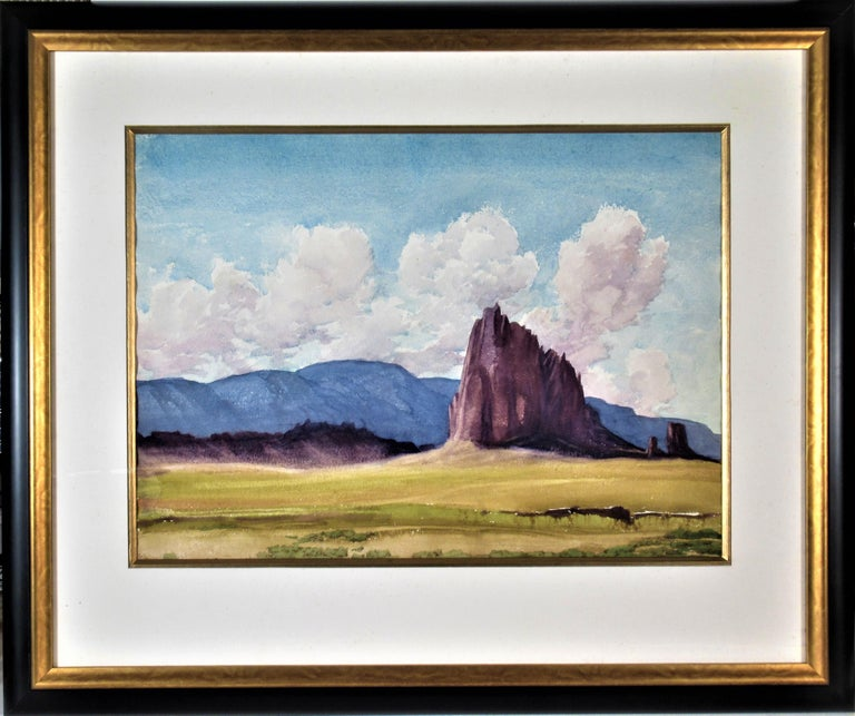 Roger Bailey Landscape Art - Shiprock (New Mexico)