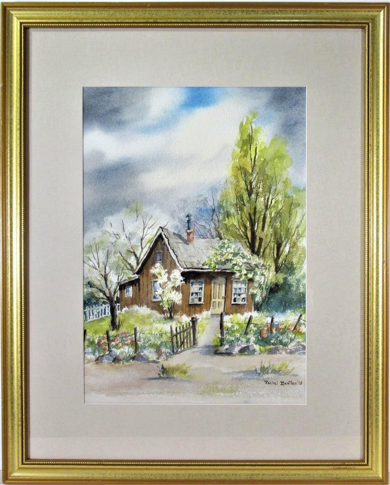 Rachel Bentley Figurative Art - Landscape with House