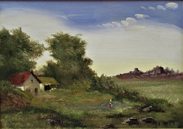 Landscape with Farm - Painting by Martin Erich Philipp