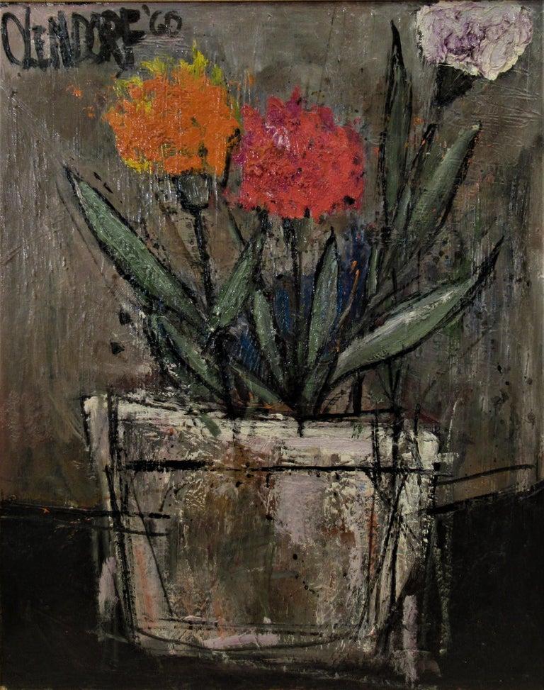 Still Life Flowers - Painting by William (Bill) Olendorf
