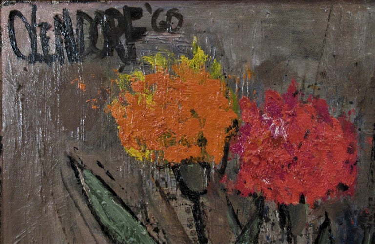 Still Life Flowers - American Impressionist Painting by William (Bill) Olendorf