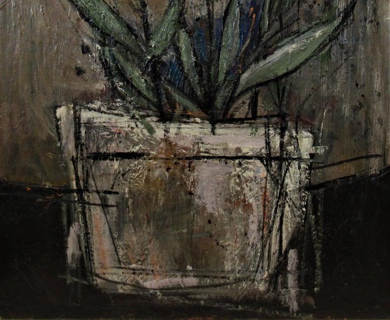 Still Life Flowers - Black Figurative Painting by William (Bill) Olendorf