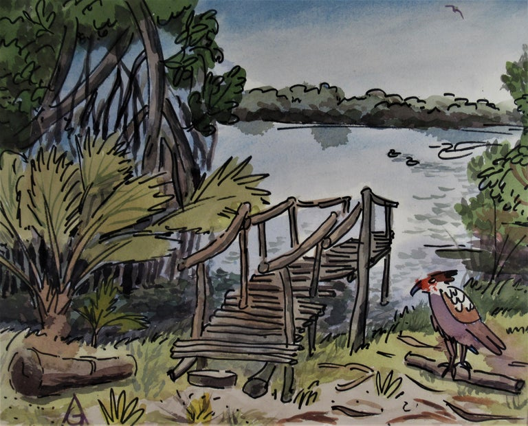 Oaxaca Coast - Art by Arnold A. Grossman