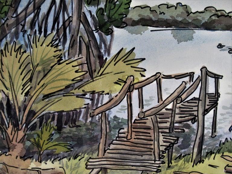 Oaxaca Coast - American Impressionist Art by Arnold A. Grossman