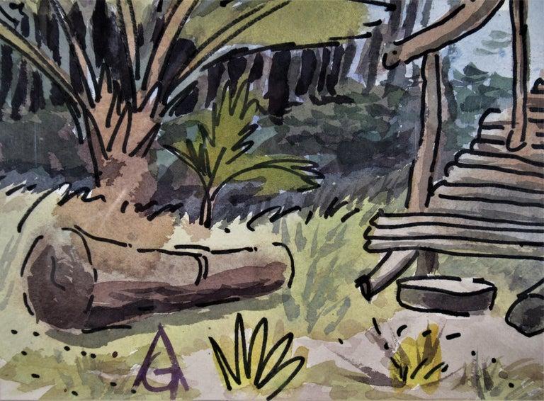 Oaxaca Coast - Gray Landscape Art by Arnold A. Grossman