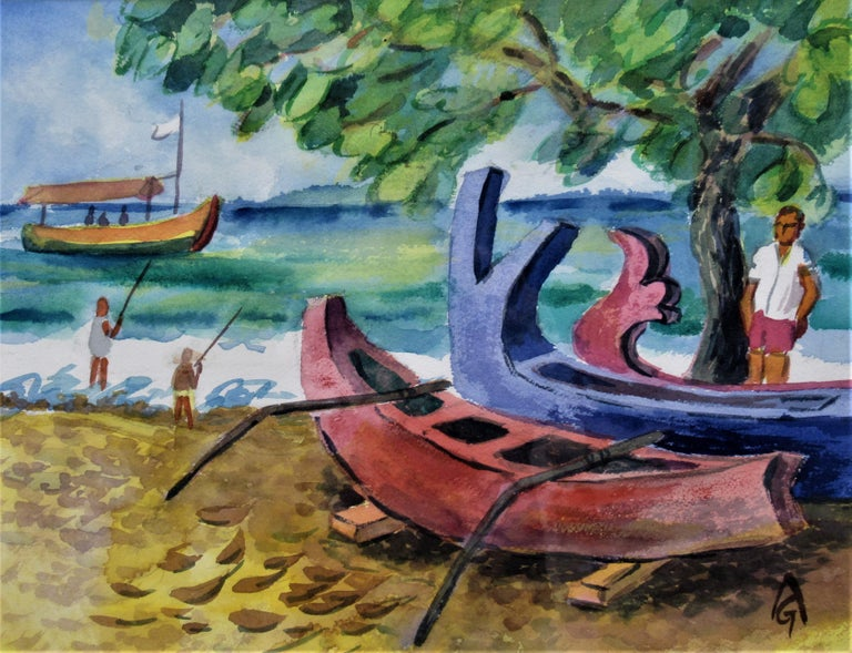 Bali Beach - Art by Arnold A. Grossman