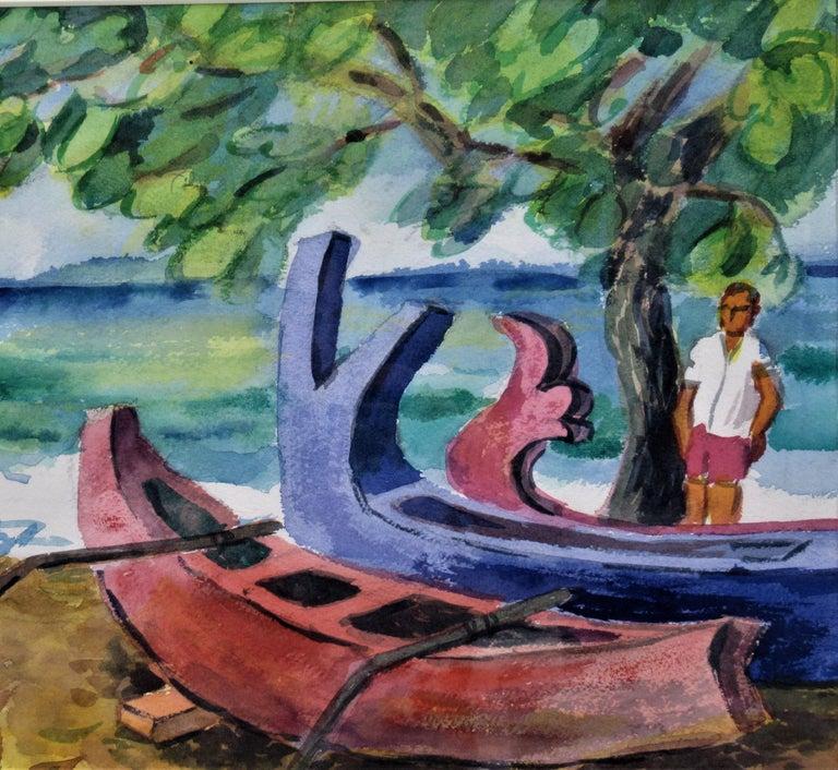 Bali Beach - American Impressionist Art by Arnold A. Grossman