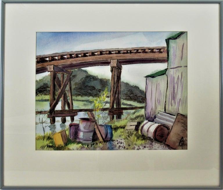 Arnold A. Grossman Landscape Art - The Old Trestle, San Rafael, California