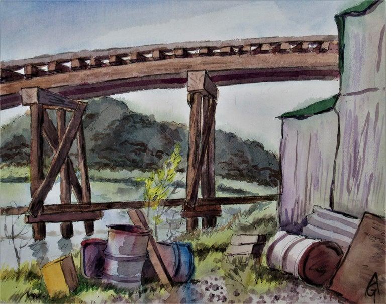 The Old Trestle, San Rafael, California - Art by Arnold A. Grossman